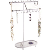 Hanging Necklace Holder Organizer Display Stand Storage Rack Sharisa White