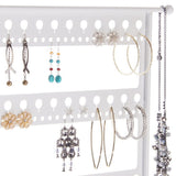 Earring Holder Display Stand Jewelry Organizer Rack Laela White