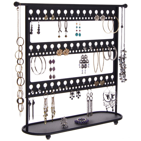 Long Earring Holder Organizer Stand Storage Rack Laela Black