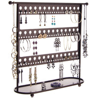 Long Earring Holder Organizer Stand Storage Rack Laela Bronze