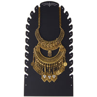 Neckline Display Stand for Long Necklaces Earrings Sturdy Tall Black Laura