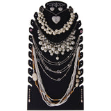 Necklace Holder Jewelry Display Stand Organizer Rack Sturdy Tall Black Laura