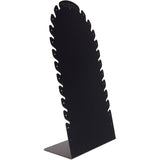 Necklace Holder Jewelry Store Display Stand for Long Necklaces Sturdy Tall Black Laura