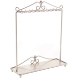 Angelynn's Necklace Display Stand Jewelry Holder Organizer Storage Rack Calla Silver