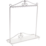 Angelynn's Necklace Display Stand Jewelry Holder Organizer Storage Rack Calla White