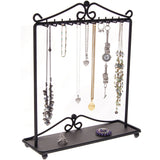 Hanging Necklace Holder Organizer Display Stand Storage Rack Calla Black