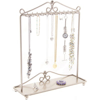 Hanging Necklace Holder Organizer Display Stand Storage Rack Calla Silver