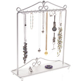 Hanging Necklace Holder Organizer Display Stand Storage Rack Calla White