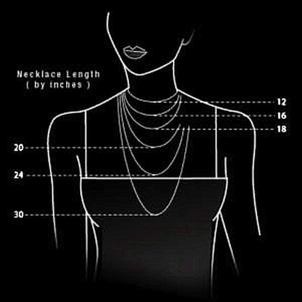 Jewelry Display Necklace Chart