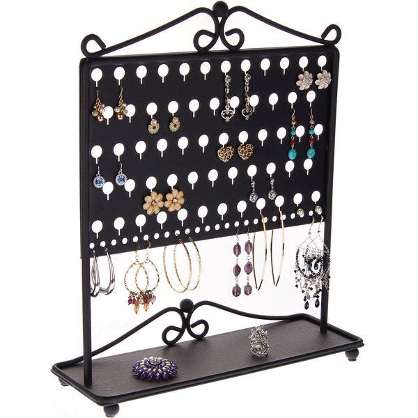 Stud Earring Holder Organizer Display Stand Ginger Black
