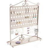 Stud Earring Holder Organizer Display Stand Ginger Silver