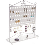 Stud Earring Holder Organizer Display Stand Ginger White