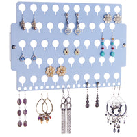 Earring Holder Organizer Closet Jewelry Storage Rack Blue Acrylic for little girls teens women