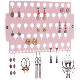 Earring Holder Organizer Closet Jewelry Storage Rack Pink Acrylic for little girls teens women