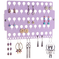 Earring Holder Organizer Closet Jewelry Storage Rack Purple Acrylic for little girls teens women