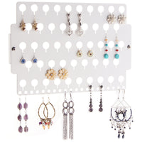 Earring Holder Organizer Closet Jewelry Storage Rack White Acrylic for little girls teens women