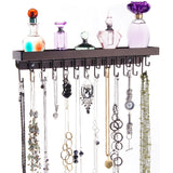 Necklace Holder Jewelry Organizer Wall Mount Closet Storage Rack Schelon Bronze