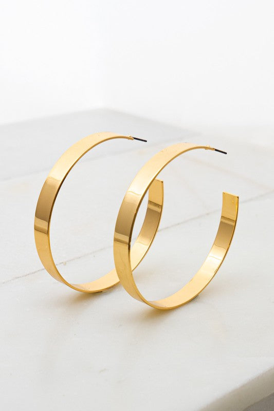 Smooth Gold Hoops