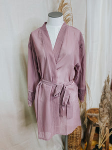 Sheer Lace Robe + Orchid