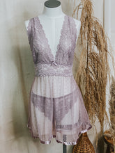Load image into Gallery viewer, Mauve Babydoll & Garter Set