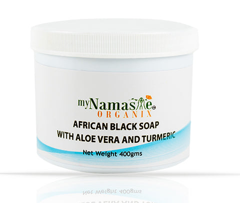 African Black soap with Pure Aloe Vera gel and Turmeric...Skin Repair Formula