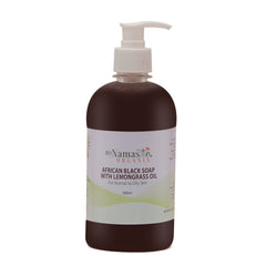 African Black Soap Body Wash With Lemongrass oil... Great for getting rid of acne - Namaste Organics