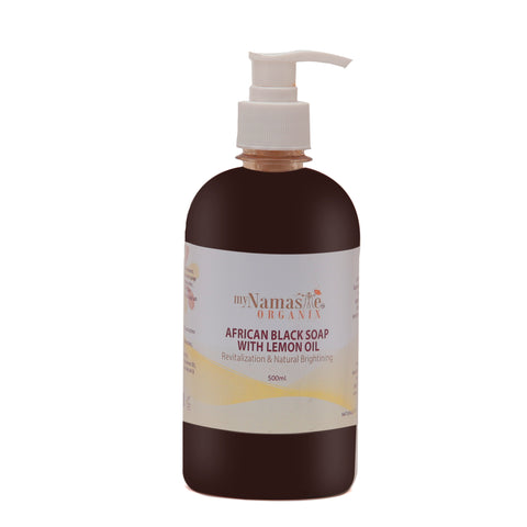 Exfoliating 100% African Black Soap Body Wash With Lemon oil ...Daily exfoliation, revitalizing and natural brightening