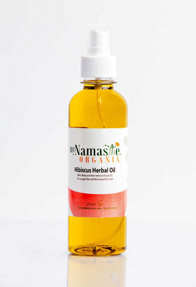Hibiscus Herbal oil, Bath, Body and Hair infused oil. - Namaste Organics