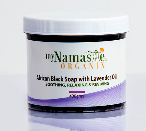 Relaxing African Black Soap Body Wash With Lavender oil... Great for re-hydrating dry skin