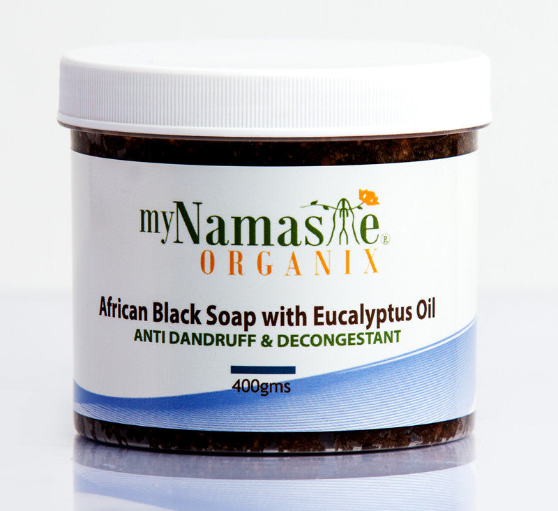 African Black Soap Hair And Body Wash With Eucalyptus Oil, for Dandruff treatment... - Namaste Organics