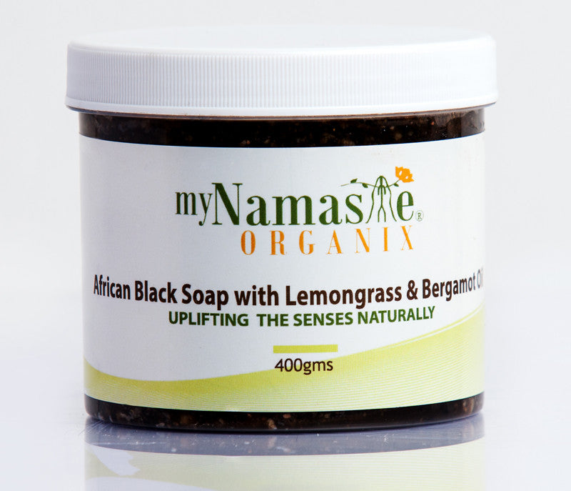 African Black Soap Uplifting Body Wash With Lemongrass and Bergamot...Oily skin Formula - Namaste Organics
