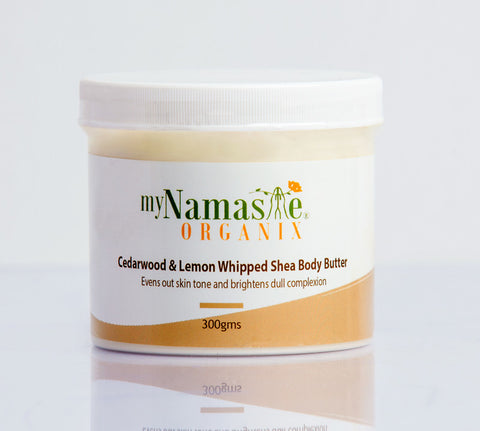 Cedar wood and Lemon Whipped Shea Body Butter ...Brightening daily moisture.