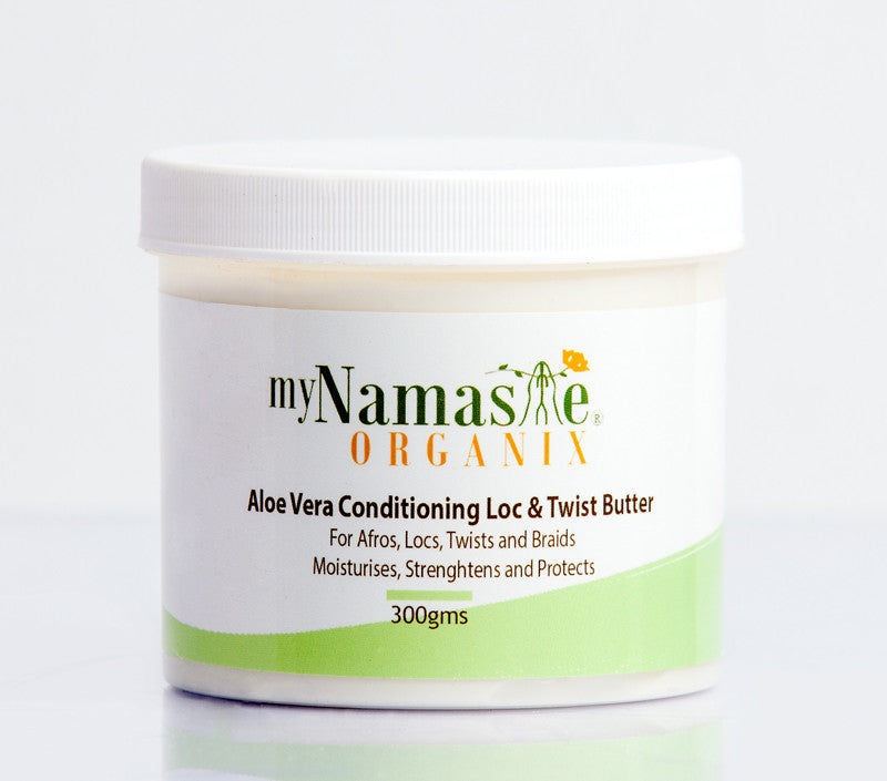 Aloe Vera Conditioning Loc  & Twist Butter. With Flax seed gel - Namaste Organics