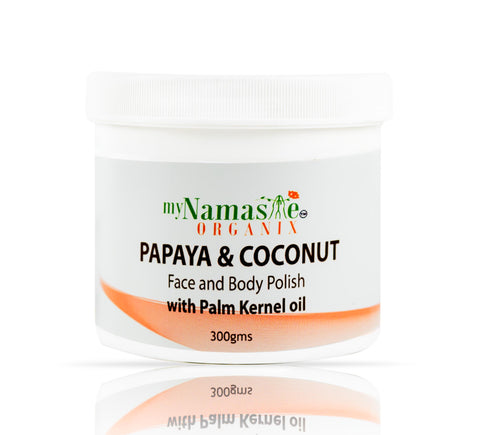 Papaya and Coconut face and body polish