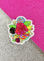 Space Rose Sticker