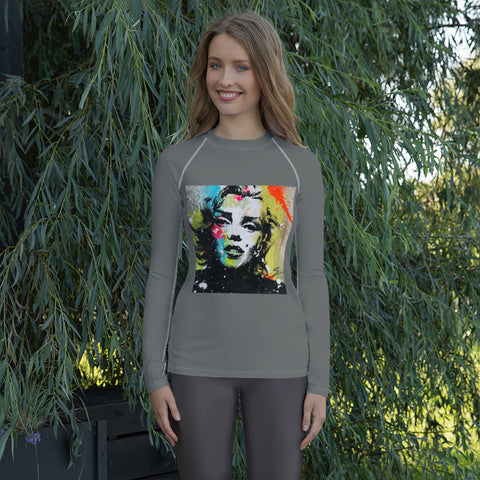 MARILYN GRAFFITI Women's Rash Guard