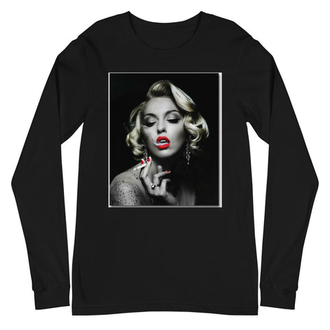 MARILYN SMOKING Unisex Long Sleeve Tee