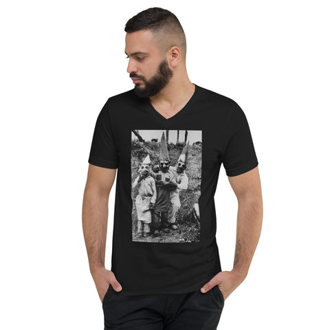 BLACK CULT SOCIETY Unisex Short Sleeve V-Neck T-Shirt