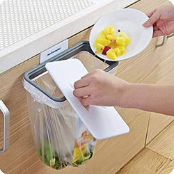 Portable Hanging Trash Bag Holder for Kitchen Bathroom Office Schools Clinic Waste Holder Hanging Rubbish Trash Carrier Bin Bag