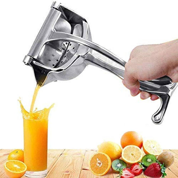 Aluminum Hand Juicer Aluminum Manual Fruit Juicer Hand juicer, Fruit juicer Manual juicer Instant juicer Orange juicer, Steel Handle Juicer | Manual Lemon Juicer  (Silver)