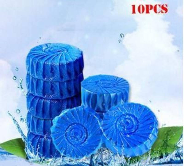 10 Pieces Toilet Cleaner-Toilet Cleaner Ball Powerful Automatic Flush Toilet Bowl Deodorizer For Bathroom