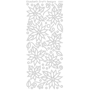 Daisies/Poinsettia with Doodles (sku 0361)