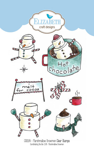 Marshmallow Snowmen stamp set