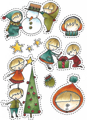 Christmas Kids stamp set