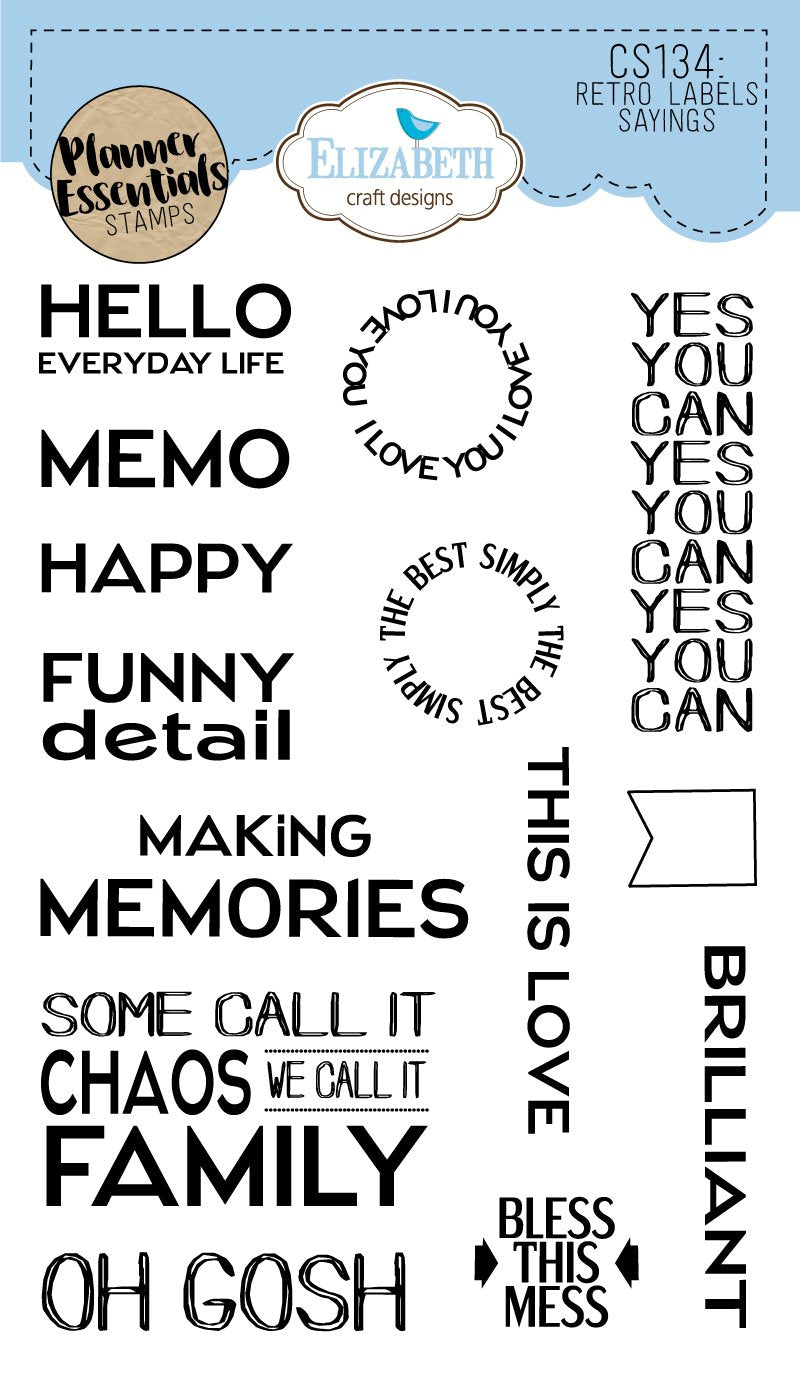 Retro Labels Sayings