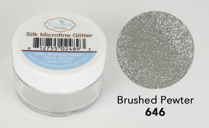 Brushed Pewter - Silk Microfine Glitter - ElizabethCraftDesigns.com