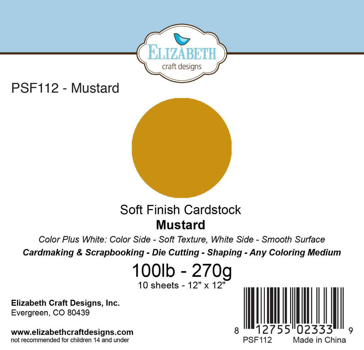Soft Finish Cardstock, Mustard