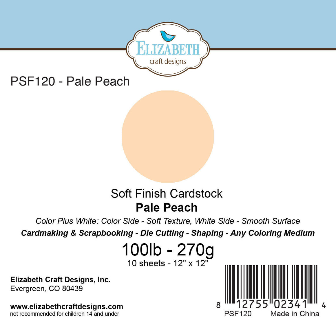 Soft Finish Cardstock, Pale Peach