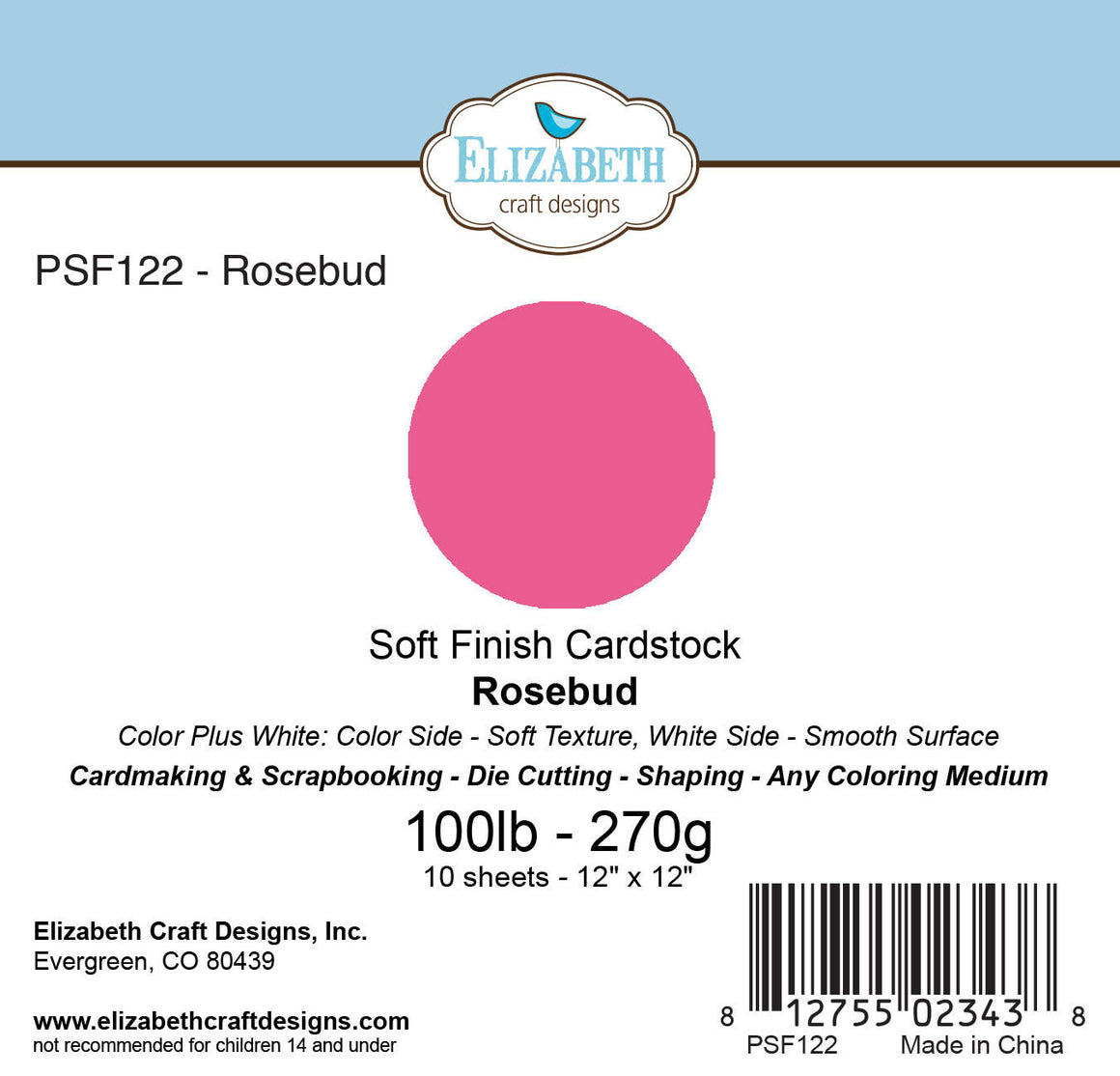 Soft Finish Cardstock, Rosebud