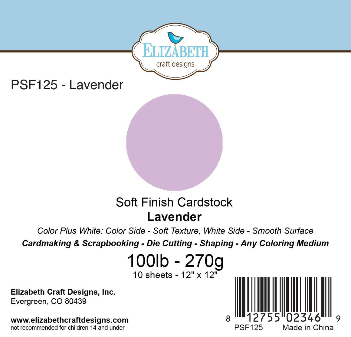 Soft Finish Cardstock, Lavender